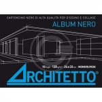 ALBUM NERO ARCHITETTO 24X33 10FG 90129