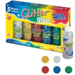 COLLA GLITTER ASSORTITA 120ML CONF5 PZ