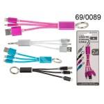 CAVO USB 2 IN 1 4 COLORI BLISTER