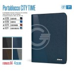 "PORTABLOCCO""CITY TIME"" A4 BLU'"