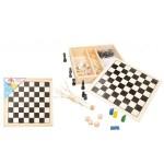 BOX SET DI GIOCHI DAMA/SCACCHI/DADI/MIKA