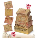 "SET 4 SCATOLE  ""CHRISTMAS KRAFT"""