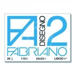 CARTELLA FABRIANO F2 24X33 20 FG.LISCIO