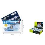 PORTA CARD HOLDER PVC 2 TASCHE